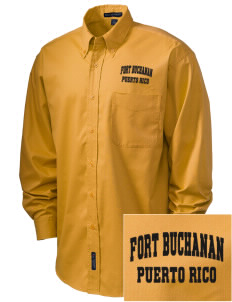 Fort Buchanan Embroidered Men's Easy-Care Shirt