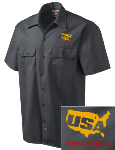 Fort Buchanan Embroidered Dickies Men's Short-Sleeve Workshirt