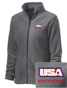 Camp Hialeah-Pusan Embroidered Women's Wintercept Fleece Full-Zip Jacket