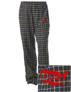 Camp H.M. Smith Embroidered Unisex Button-Fly Collegiate Flannel Pant