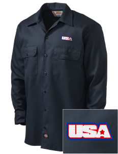 Petaluma CG Training Center Embroidered Dickies Men's Long-Sleeve Workshirt