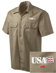 Miami CG Air Station Embroidered Dickies Men's Short-Sleeve Workshirt