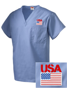 Miami CG Air Station Embroidered V-Neck Scrub Top