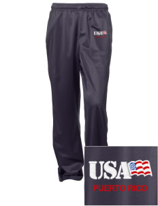 San Juan U.S. Coast Guard Base Embroidered Women's Tricot Track Pants