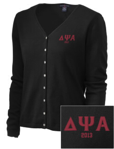 Delta Psi Alpha Embroidered Women's Stretch Cardigan Sweater