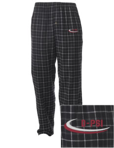 Delta Psi Alpha Embroidered Men's Button-Fly Collegiate Flannel Pant