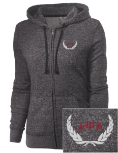 Delta Psi Alpha Embroidered Women's Marled Full-Zip Hooded Sweatshirt