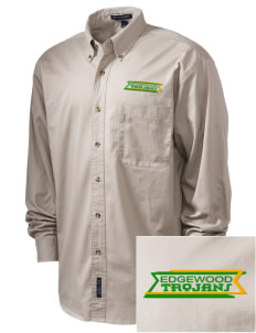 Edgewood High School Trojans Embroidered Tall Men's Twill Shirt