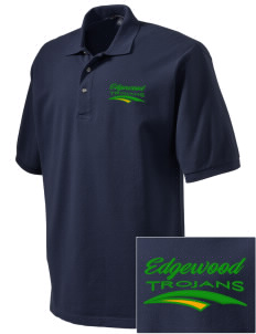 Edgewood High School Trojans Embroidered Tall Men's Pique Polo