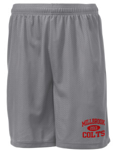 "Millbrook Elementary School Colts Men's Mesh Shorts, 7-1/2"" Inseam"