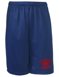 "Millbrook Elementary School Colts Long Mesh Shorts, 9"" Inseam"