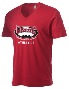 Upper Midwest Athletic Conference Athletics Alternative Men's 3.7 oz Basic V-Neck T-Shirt