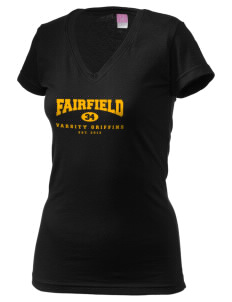 Fairfield Middle School Griffins Juniors' Fine Jersey V-Neck Longer Length T-shirt