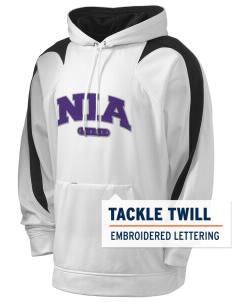 NIA Community Public Charter School Eagles Holloway Men's Sports Fleece Hooded Sweatshirt with Tackle Twill