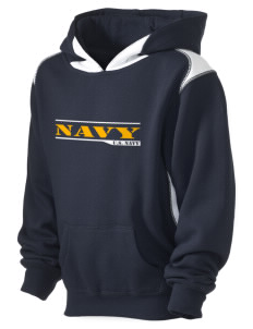 USS San Antonio Kid's Pullover Hooded Sweatshirt with Contrast Color