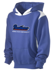 Georgia State University Panthers Kid's Pullover Hooded Sweatshirt with Contrast Color