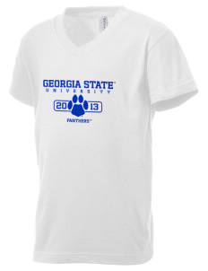 Georgia State University Panthers Kid's V-Neck Jersey T-Shirt