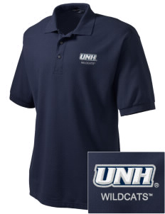 University of New Hampshire Wildcats Embroidered Tall Men's Silk Touch Polo