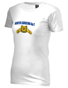 North Carolina A&T State University Aggies Alternative Women's Basic Crew T-Shirt