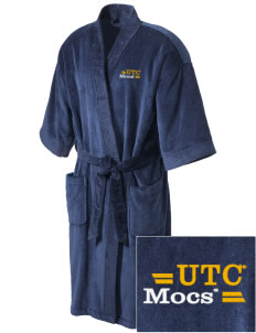 University of Tennessee at Chattanooga Mocs Embroidered Terry Velour Robe
