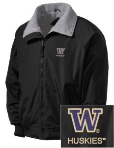 University of Washington Huskies Embroidered Men's Fleece-Lined Jacket