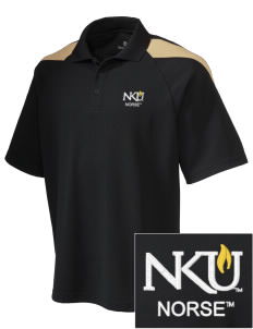 Northern Kentucky University Norse Embroidered Holloway Men's Frequency Performance Pique Polo