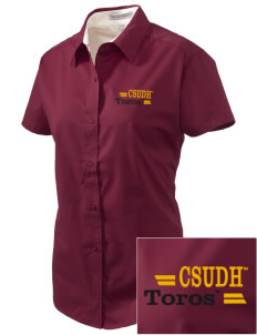 California State University, Dominguez Hills Toros Embroidered Women's Easy Care Short Sleeve Shirt
