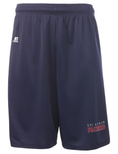 "University of South Carolina Aiken Pacers  Russell Deluxe Mesh Shorts, 10"" Inseam"