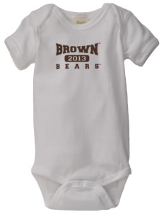 Brown University Bears  Baby Organic Lap Shoulder Creeper
