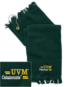 The University of Vermont Catamounts  Embroidered Grommeted Finger Tip Towel