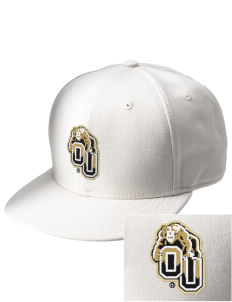 Oakland University Golden Grizzlies  Embroidered New Era Flat Bill Snapback Cap