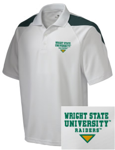 Wright State University Raiders Embroidered Holloway Men's Frequency Performance Pique Polo