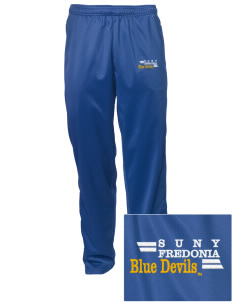 SUNY Fredonia Blue Devils Embroidered Men's Tricot Track Pants