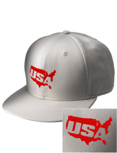U.S. Marine Corps  Embroidered New Era Flat Bill Snapback Cap