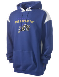 United States Naval Academy Midshipmen Men's Pullover Hooded Sweatshirt with Contrast Color