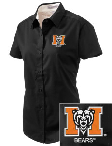 Mercer University Bears Embroidered Women's Easy Care Short Sleeve Shirt