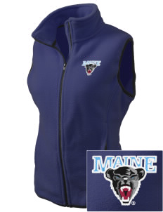 University of Maine Black Bears Embroidered Women's Fleece Vest
