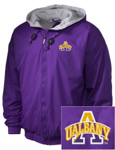 University at Albany State University of New York Great Danes Embroidered Holloway Men's Hooded Jacket
