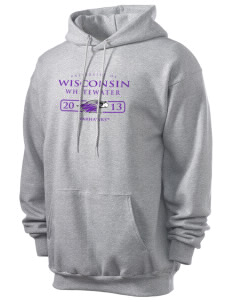University of Wisconsin-Whitewater Warhawks Men's 7.8 oz Lightweight Hooded Sweatshirt