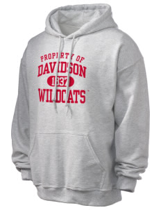 Davidson College Wildcats Ultra Blend 50/50 Hooded Sweatshirt
