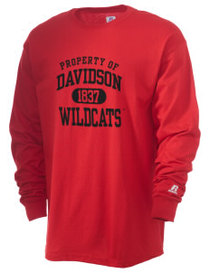 Davidson College Wildcats  Russell Men's Long Sleeve T-Shirt