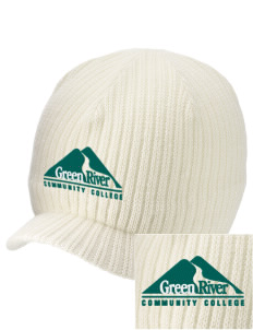 Green River Community College Gators Embroidered Knit Beanie with Visor