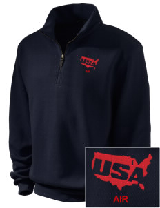 Air National Guard Embroidered Men's 1/4-Zip Sweatshirt