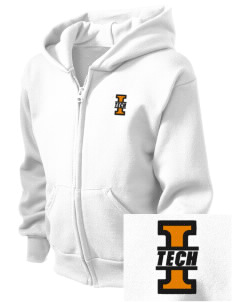 Indiana Tech Warriors  Embroidered Kid's Full Zip Hooded Sweatshirt