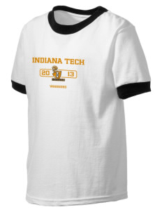 Indiana Tech Warriors Kid's Ringer T-Shirt