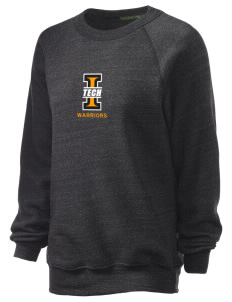Indiana Tech Warriors Unisex Alternative Eco-Fleece Raglan Sweatshirt