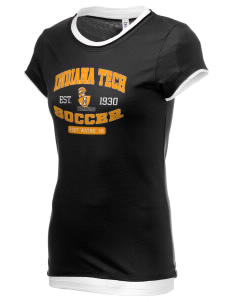 Indiana Tech Warriors Women's Sheer Claudette 2 in 1 T-Shirt