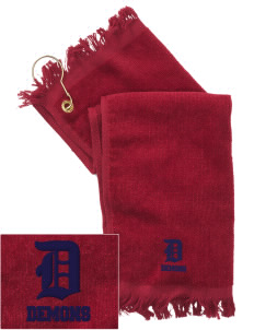 Lugoff Elgin High School Demons  Embroidered Grommeted Finger Tip Towel
