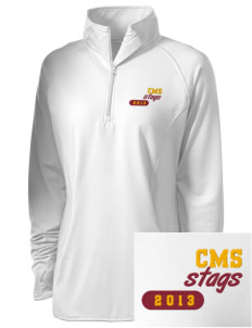 Claremont-Mudd-Scripps Men's Athletics Stags Embroidered Ladies Stretched Half-Zip Pullover