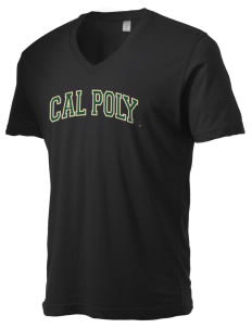 California Polytechnic State University Mustangs Alternative Men's 3.7 oz Basic V-Neck T-Shirt